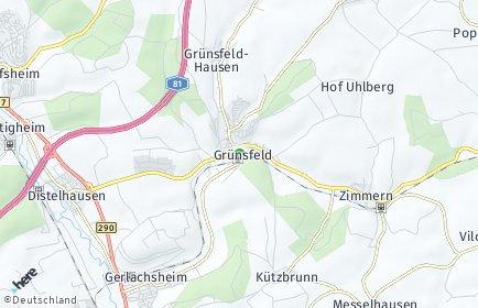 Stadtplan Grünsfeld