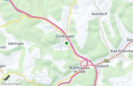 Stadtplan Gruibingen