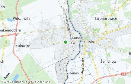 Stadtplan Guben