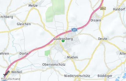 Stadtplan Gudensberg
