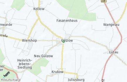 Stadtplan Gülzow (Lauenburg)