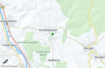 Stadtplan Güntersleben