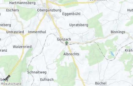 Stadtplan Günzach