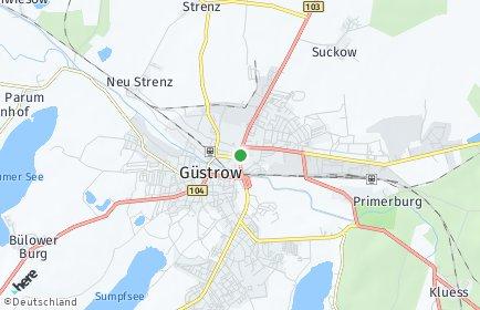 Stadtplan Güstrow