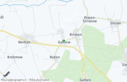 Stadtplan Guhrow