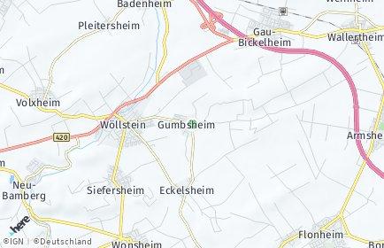 Stadtplan Gumbsheim