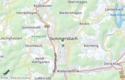Stadtplan Gummersbach OT Wasserfuhr