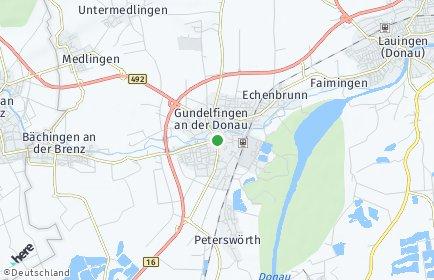 Stadtplan Gundelfingen an der Donau