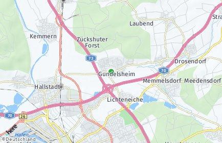 Stadtplan Gundelsheim (Oberfranken)