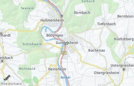 Stadtplan Gundelsheim (Württemberg)