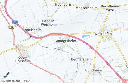 Stadtplan Gundersheim