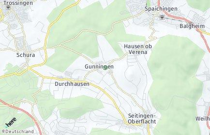 Stadtplan Gunningen