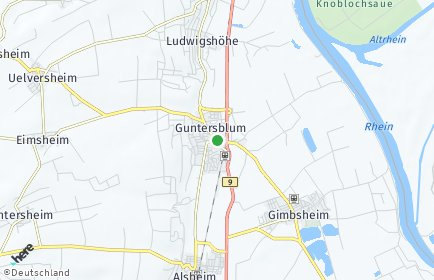 Stadtplan Guntersblum