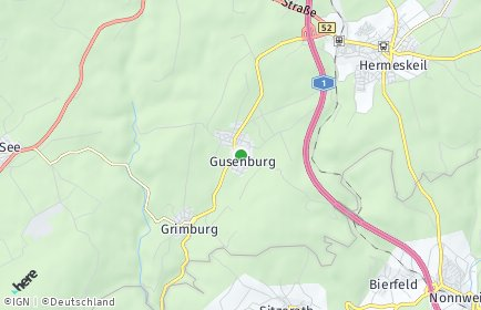 Stadtplan Gusenburg