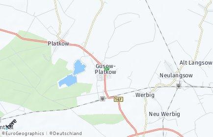 Stadtplan Gusow-Platkow