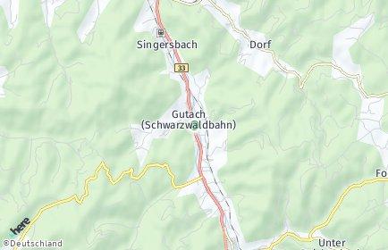 Stadtplan Gutach (Schwarzwaldbahn)