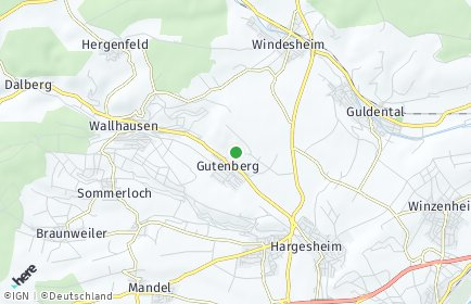 Stadtplan Gutenberg
