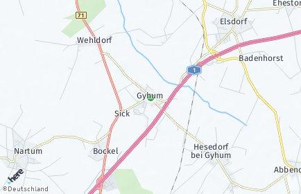 Stadtplan Gyhum