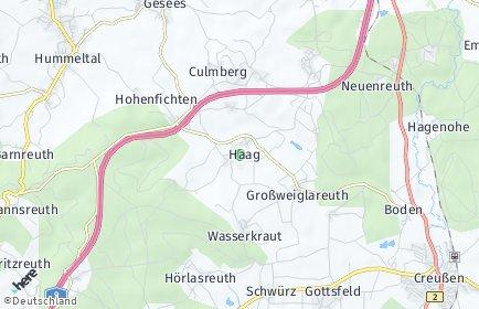 Stadtplan Haag (Oberfranken)