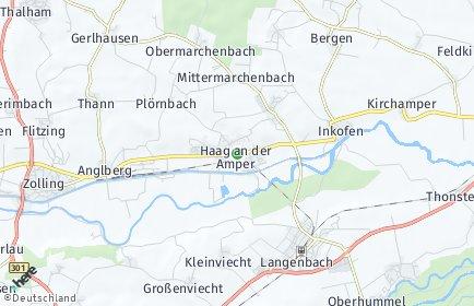 Stadtplan Haag an der Amper