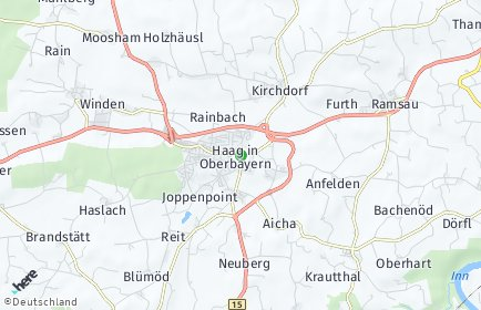 Stadtplan Haag in Oberbayern
