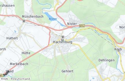 Stadtplan Hachenburg