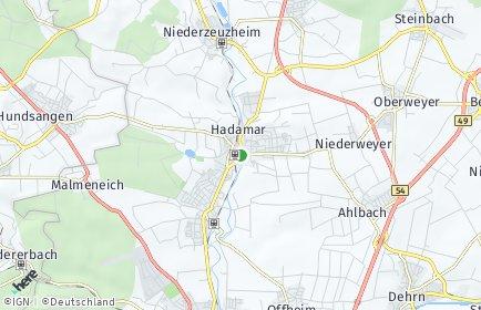 Stadtplan Hadamar
