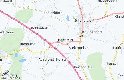 Stadtplan Hadenfeld