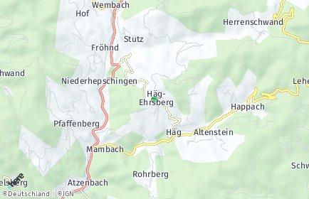 Stadtplan Häg-Ehrsberg