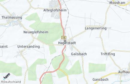 Stadtplan Hagelstadt OT Hagelstadt