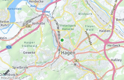 Stadtplan Hagen OT Hochschulviertel