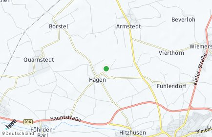 Stadtplan Hagen bei Bad Bramstedt