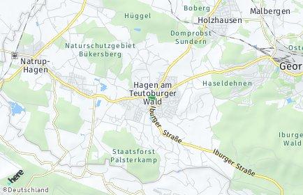 Stadtplan Hagen am Teutoburger Wald