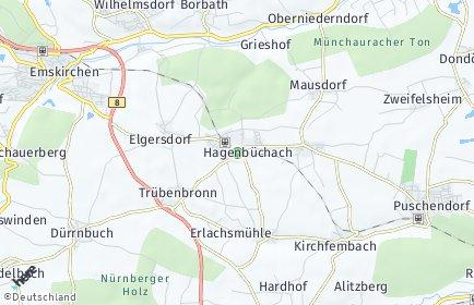 Stadtplan Hagenbüchach