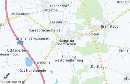 Stadtplan Hagen im Bremischen