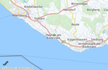 Stadtplan Hagnau am Bodensee