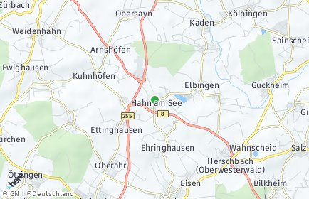 Stadtplan Hahn am See