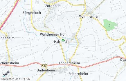Stadtplan Hahnheim
