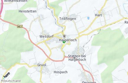 Stadtplan Haigerloch OT Bad Imnau
