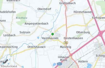 Stadtplan Haimhausen OT Amperpettenbach