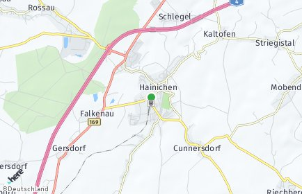 Stadtplan Hainichen