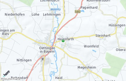 Stadtplan Hainsfarth