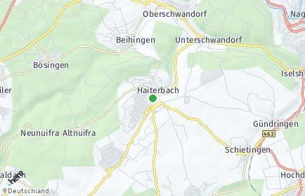 Stadtplan Haiterbach