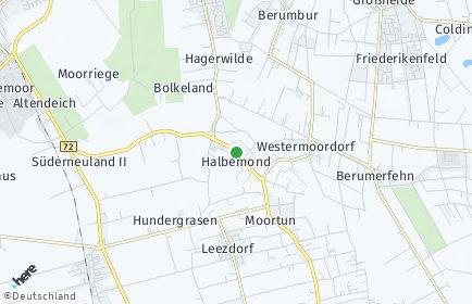 Stadtplan Halbemond