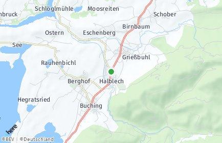 Stadtplan Halblech