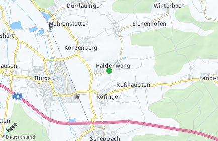 Stadtplan Haldenwang (Schwaben)