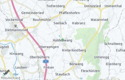 Stadtplan Haldenwang (Allgäu)