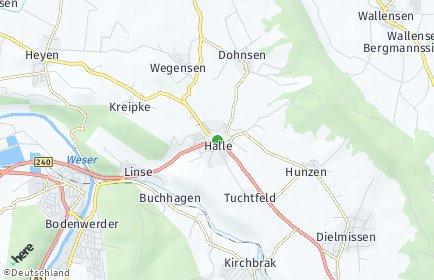 Stadtplan Halle (Weserbergland)