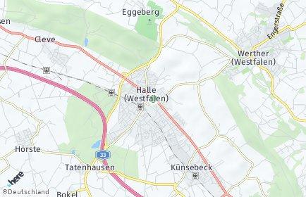 Stadtplan Halle (Westfalen)