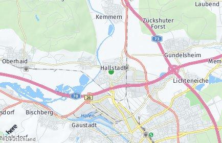 Stadtplan Hallstadt